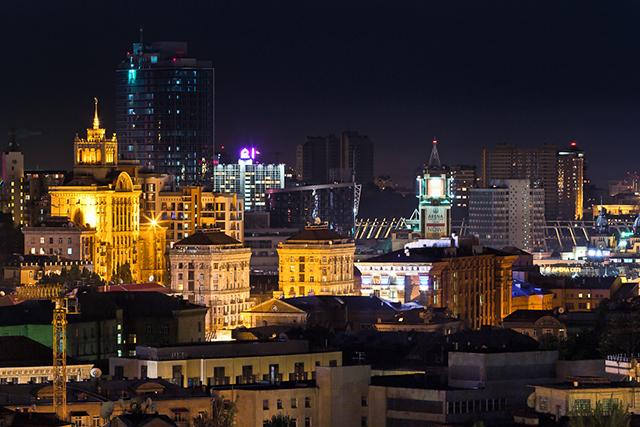 Архитектурное и фасадное освещение зданий