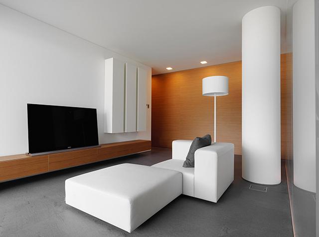 Обстановка новой квартиры в стиле минимализма